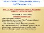 hsa 515 mentor predictable world hsa515mentor com 14