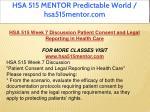 hsa 515 mentor predictable world hsa515mentor com 16