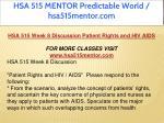 hsa 515 mentor predictable world hsa515mentor com 17