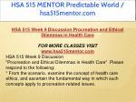hsa 515 mentor predictable world hsa515mentor com 19