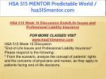 hsa 515 mentor predictable world hsa515mentor com 20