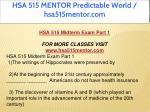 hsa 515 mentor predictable world hsa515mentor com 5