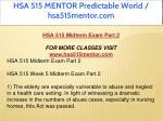hsa 515 mentor predictable world hsa515mentor com 6