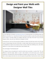 design and paint your walls with designer wall