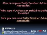 how to compose daily excelsior ads in newspaper