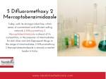 5 difluoromethoxy 2 mercaptobenzimidazole