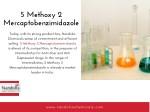 5 methoxy 2 mercaptobenzimidazole