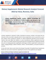 dietary supplements market research analysis