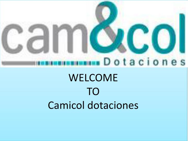 welcome to camicol dotaciones n.