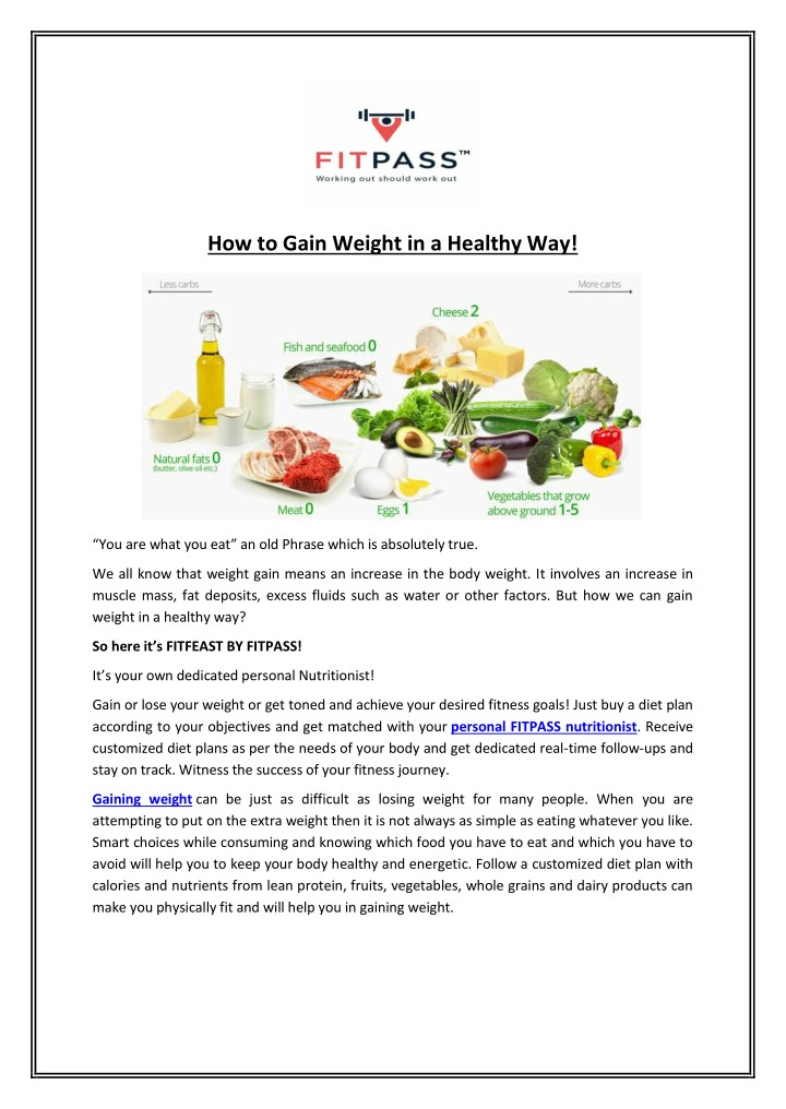 how to gain weight in a healthy way n.
