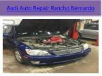 audi auto repair rancho bernardo