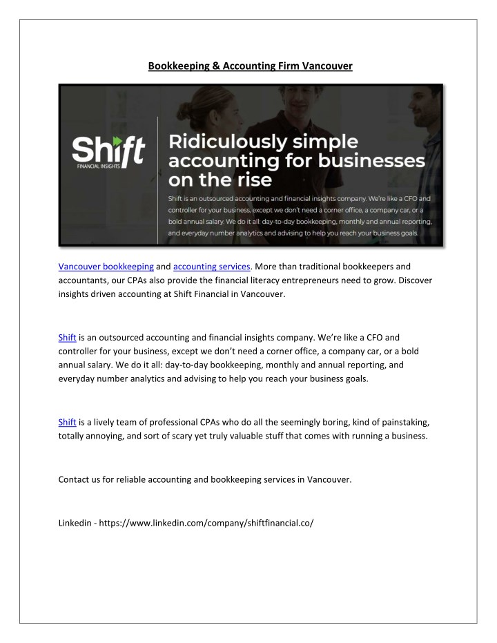 bookkeeping accounting firm vancouver n.