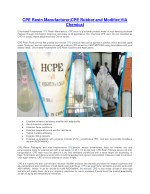 cpe resin manufacturer cpe rubber and modifier