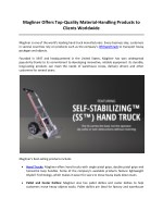 magliner offers top quality material handling