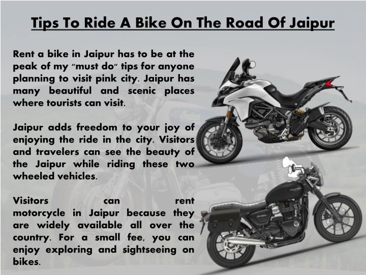 tips to ride a bike on the road of jaipur n.