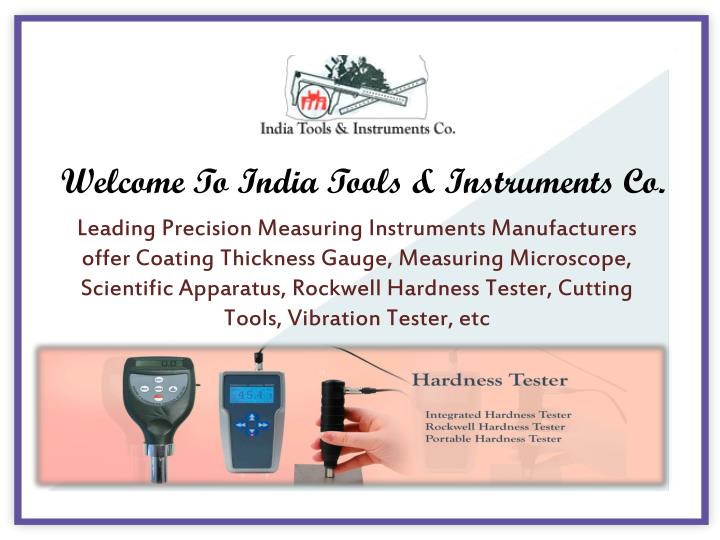 welcome to india tools instruments co n.