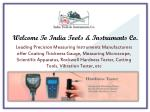 welcome to india tools instruments co