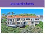 buy nashville homes