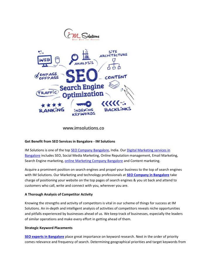 PPT - Get Benefit from SEO Services in Bangalore - IM