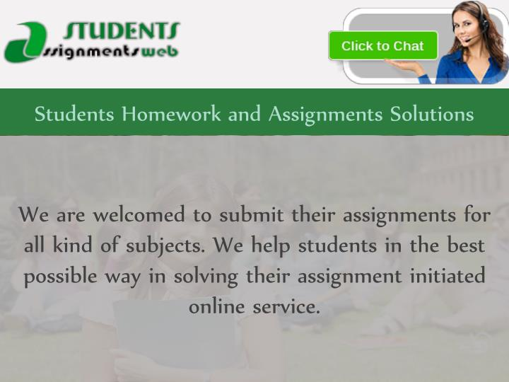 students homework and assignments solutions n.