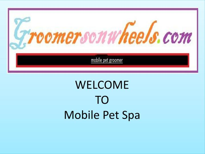 welcome to mobile pet spa n.