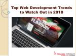 top web development trends to watch out in 2018