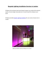 bespoke lighting installation services in london