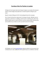 furniture hire for parties in london