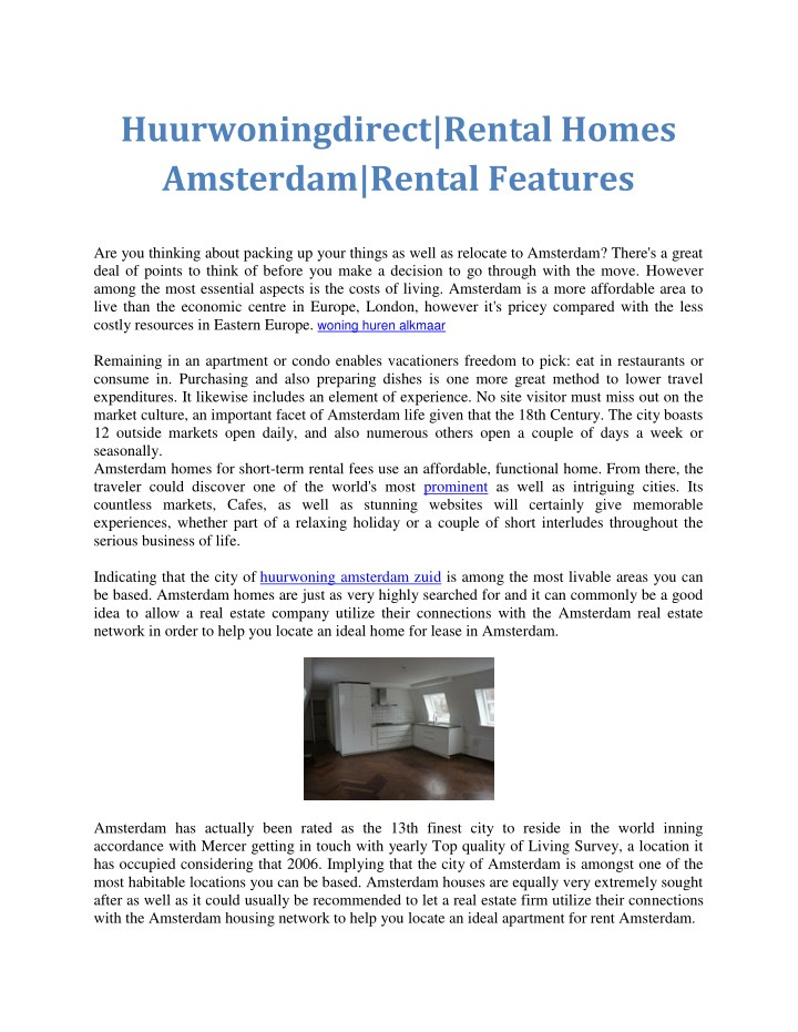 huurwoningdirect rental homes amsterdam rental n.
