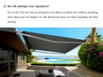 2 are all awnings very expensive