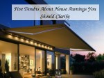 five doubts about house awnings you should clarify