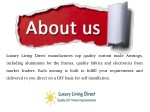 luxury living direct manufactures top quality
