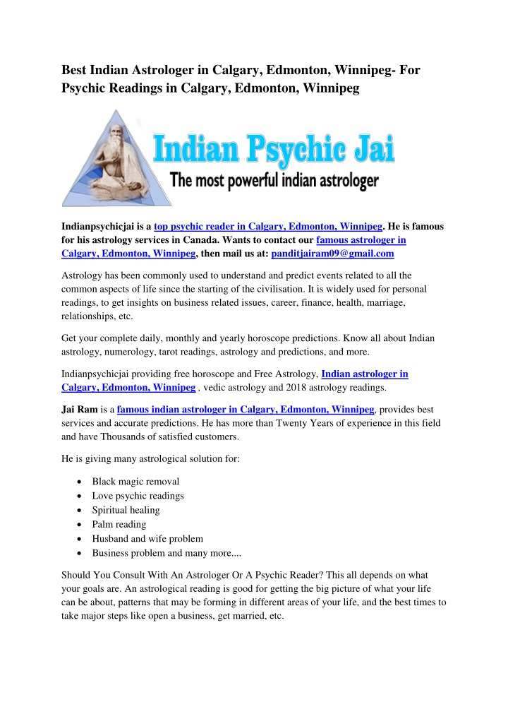 best indian astrologer in calgary edmonton n.