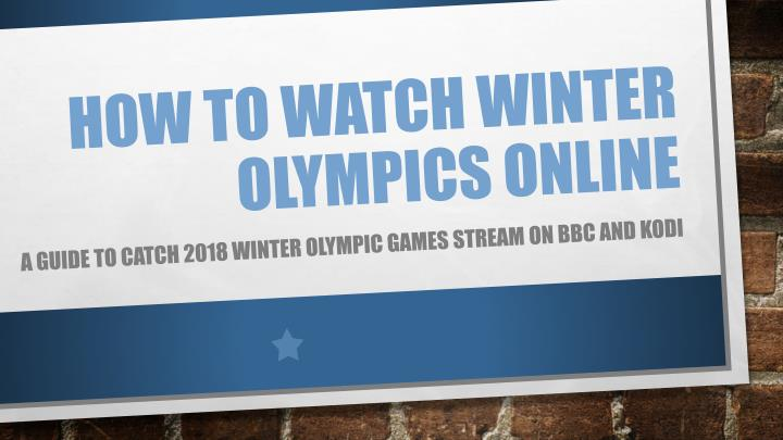 how to watch winter olympics online n.