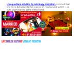 love problem solution by astrology prediction