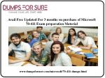 avail free updated for 3 months on purchase of microsoft 70 411 exam preparation material
