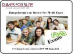 dumpsforsure com review for 70 411 exam