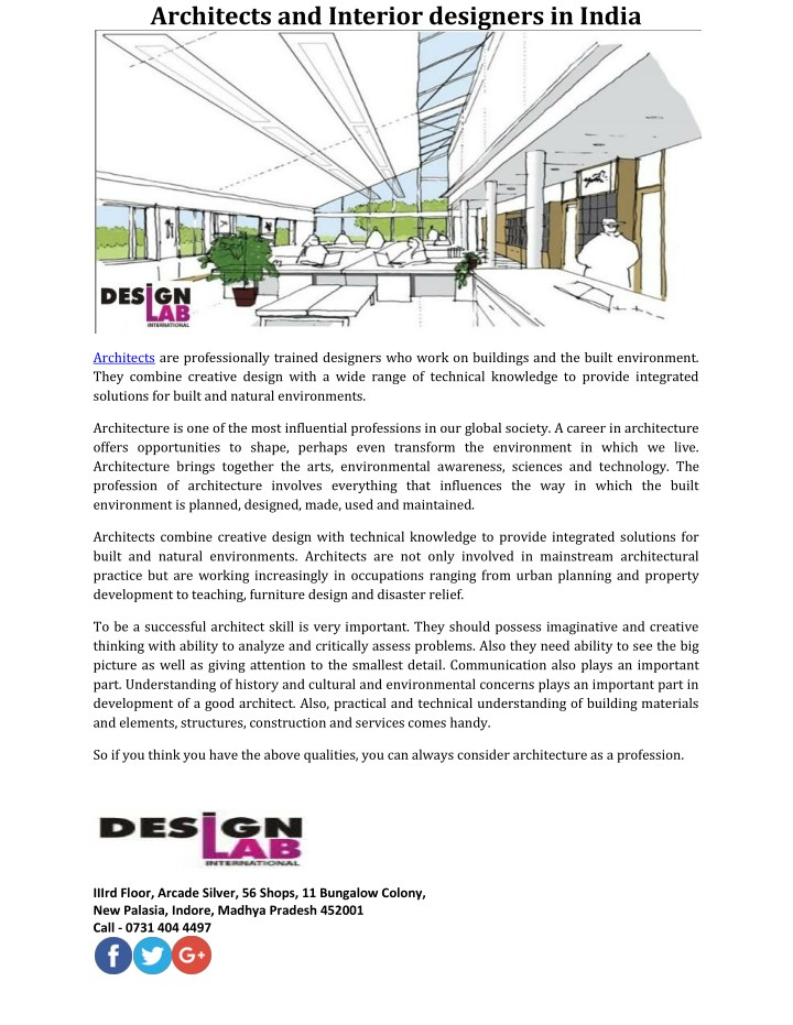 architects and interior designers in india n.