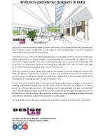architects and interior designers in india