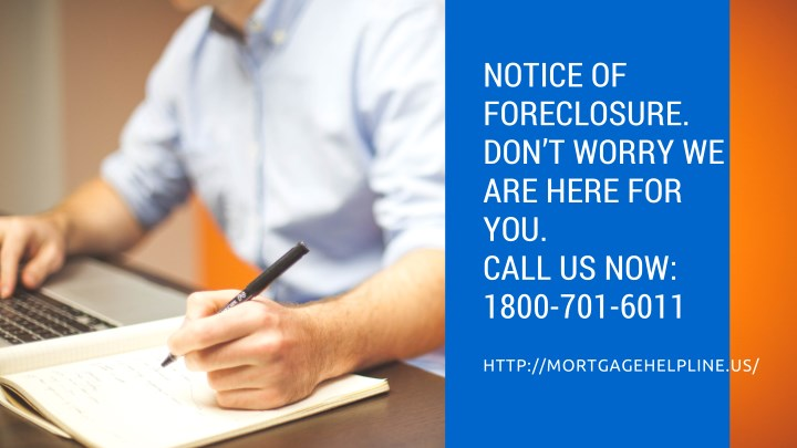 notice of foreclosure don t worry we are here n.