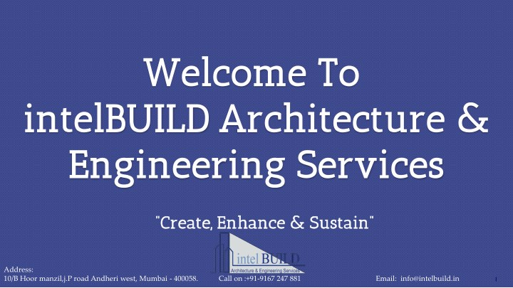 welcome t welcome to o architecture engineering n.