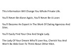 this information will change you whole private