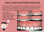 dental crown lengthening procedure