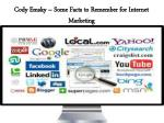 cody emsky some facts to remember for internet marketing