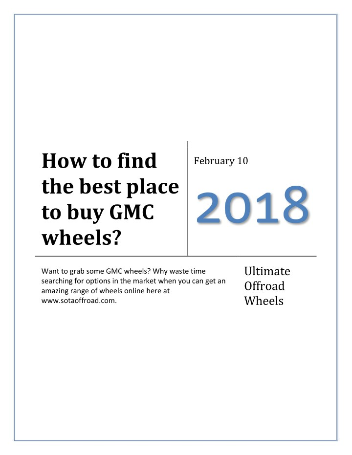 how to find the best place to buy gmc wheels n.
