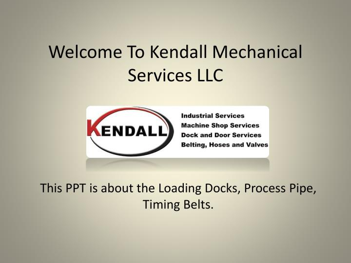 welcome to kendall mechanical services llc n.