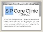 home health tests private health blood testing