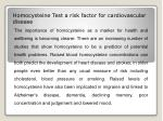 homocysteine test a risk factor