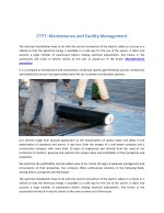ctyt maintenance and facility management