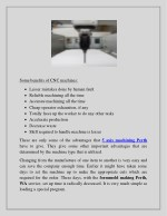 some benefits of cnc machines